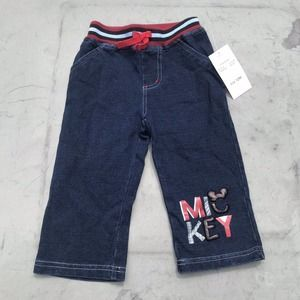Disney Mickey Denim Style Sweat Pants
